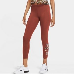 New Nike Tight Fit Legging with Floral Logo Detail